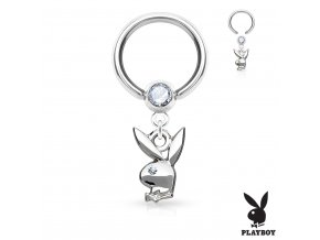 Piercing - kruh Playboy 1,2 x 10 mm