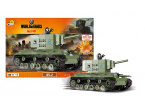 stavebnice World of Tanks tank KV2, 500 k, 1 f