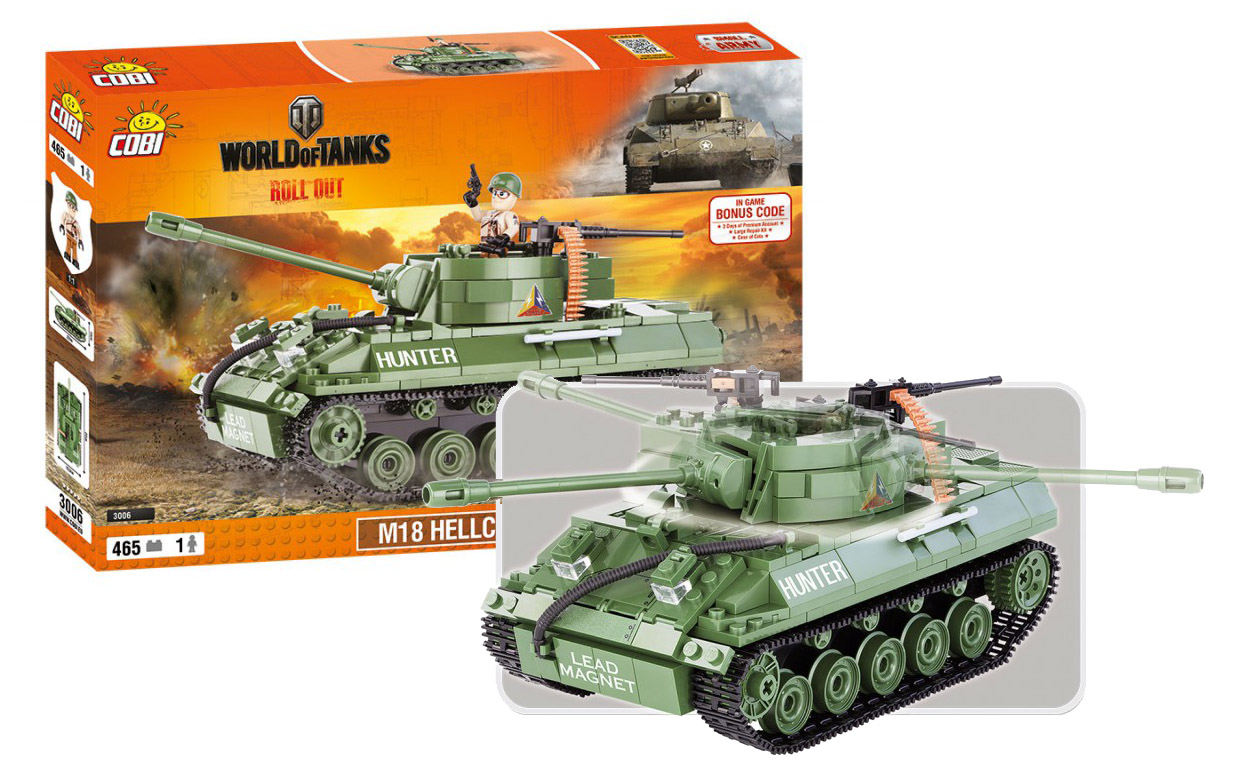 COBI stavebnice WORLD OF TANKS Hellicat 465 k, 1 f