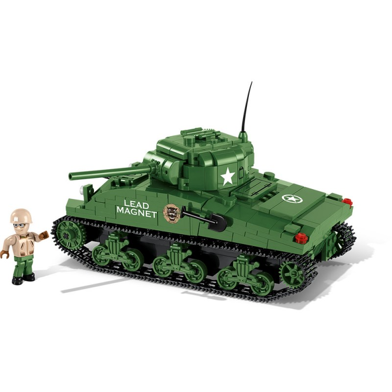 COBI stavebnice WORLD OF TANKS Sherman A1/Firefly 2v1 450 k, 1 f