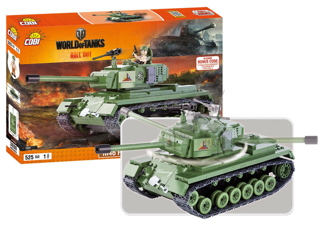 COBI stavebnice WORLD OF TANKS Patton 500 k, 1 f