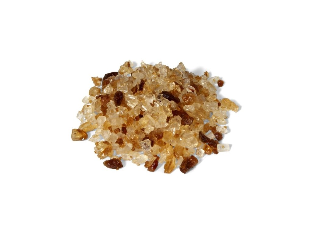 brown candy pieces with vanila taste