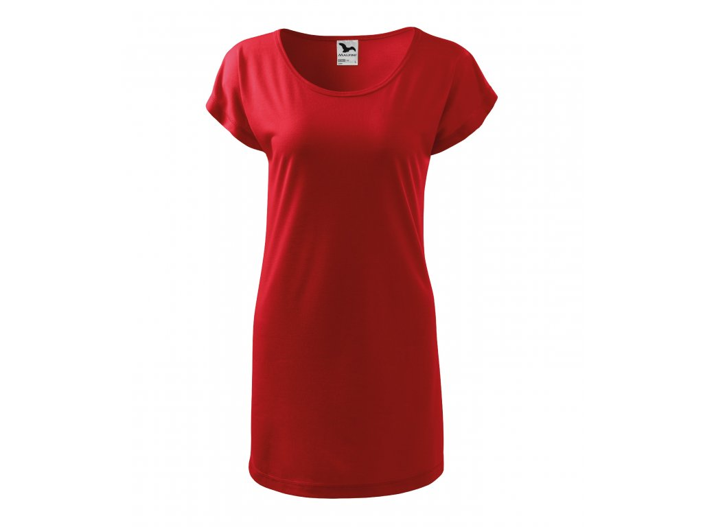 5b5f779041 Tričko šaty dámské Love - Originalnitextil.cz