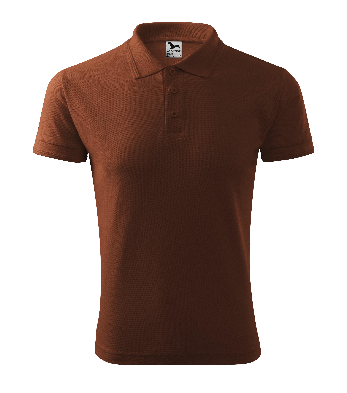 Polokošile pánská Pique Polo Barva: čokoládová, Velikost: L
