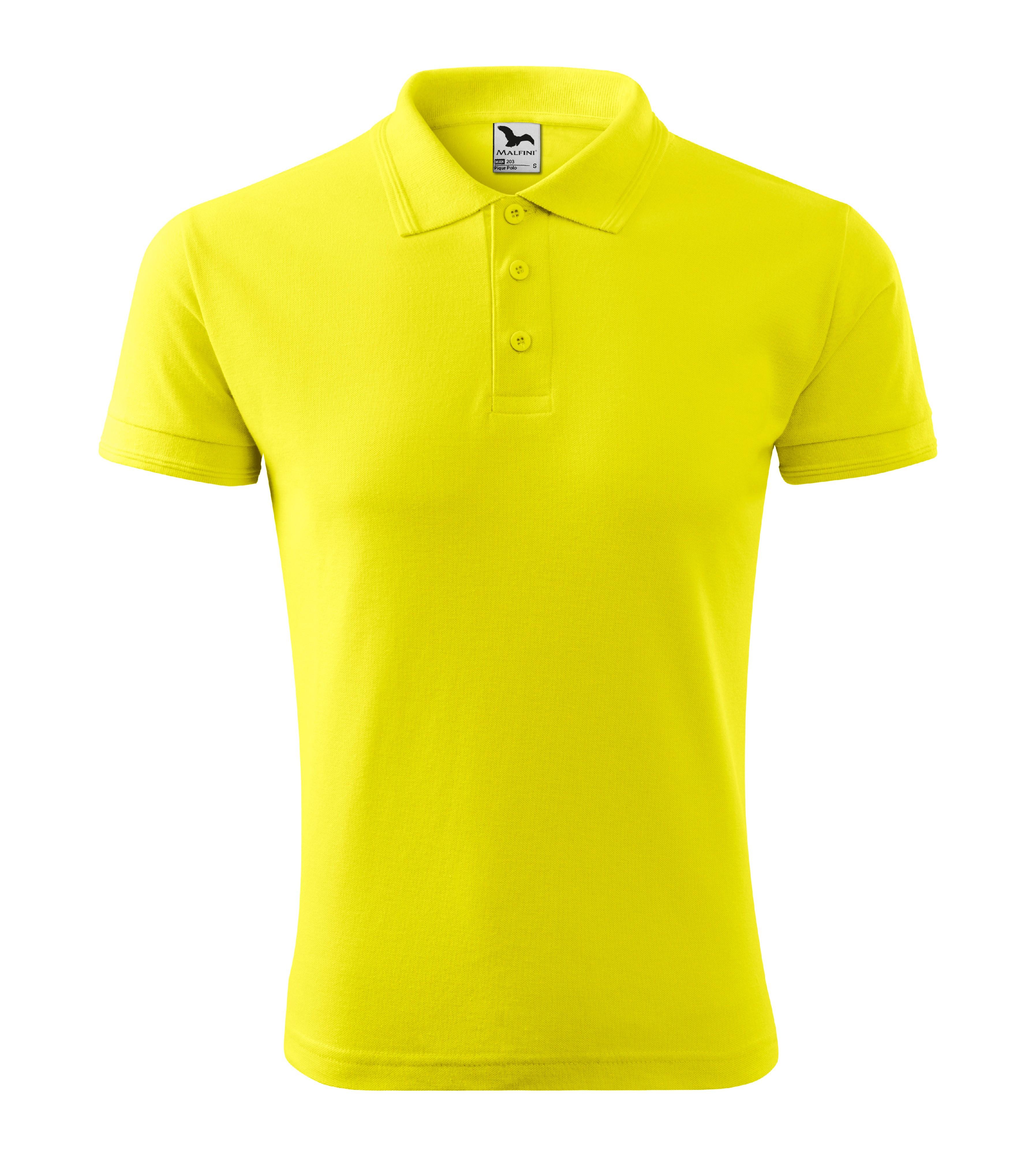 Polokošile pánská Pique Polo Barva: citronová, Velikost: L