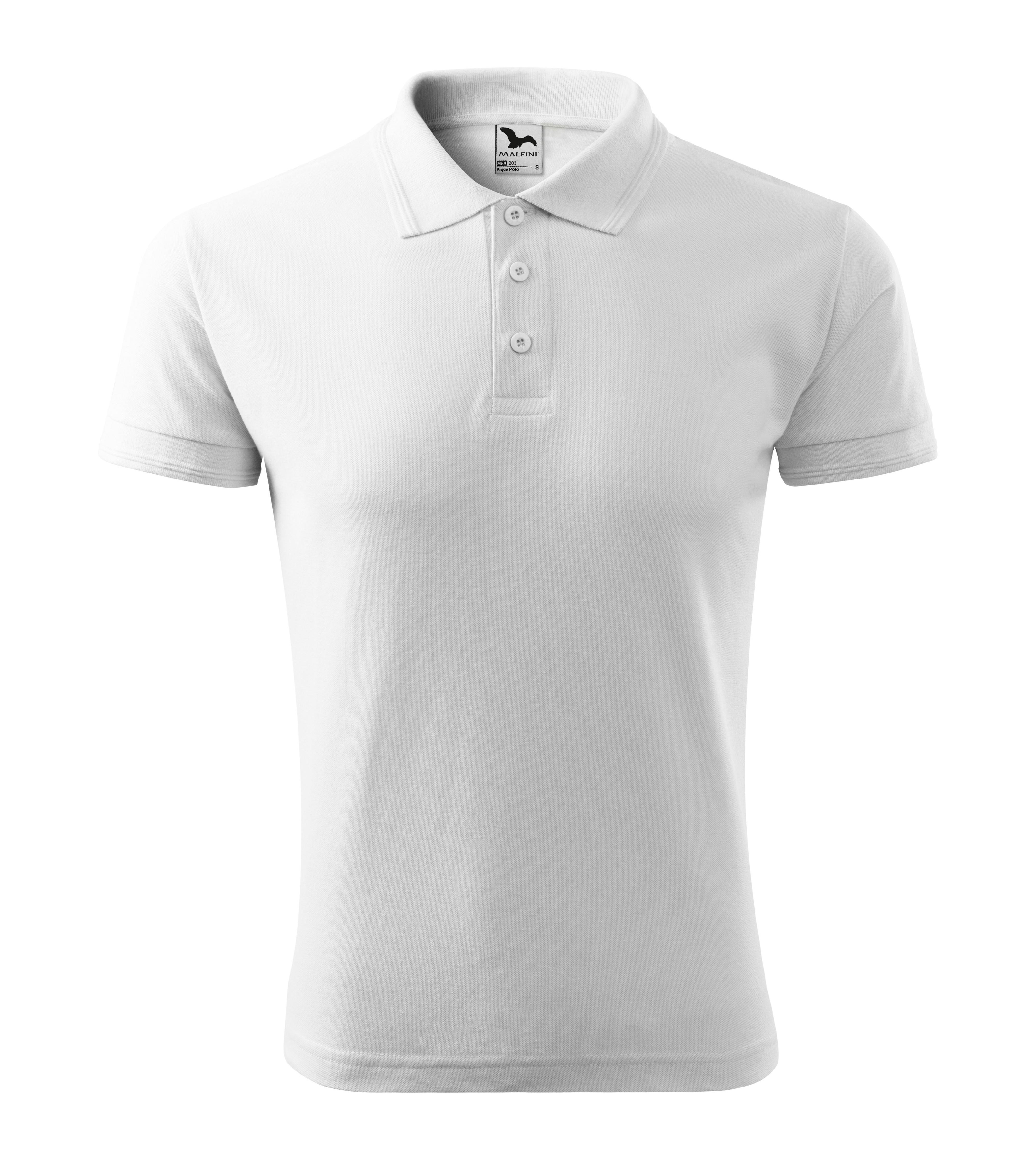 Polokošile pánská Pique Polo Barva: Bílá, Velikost: L