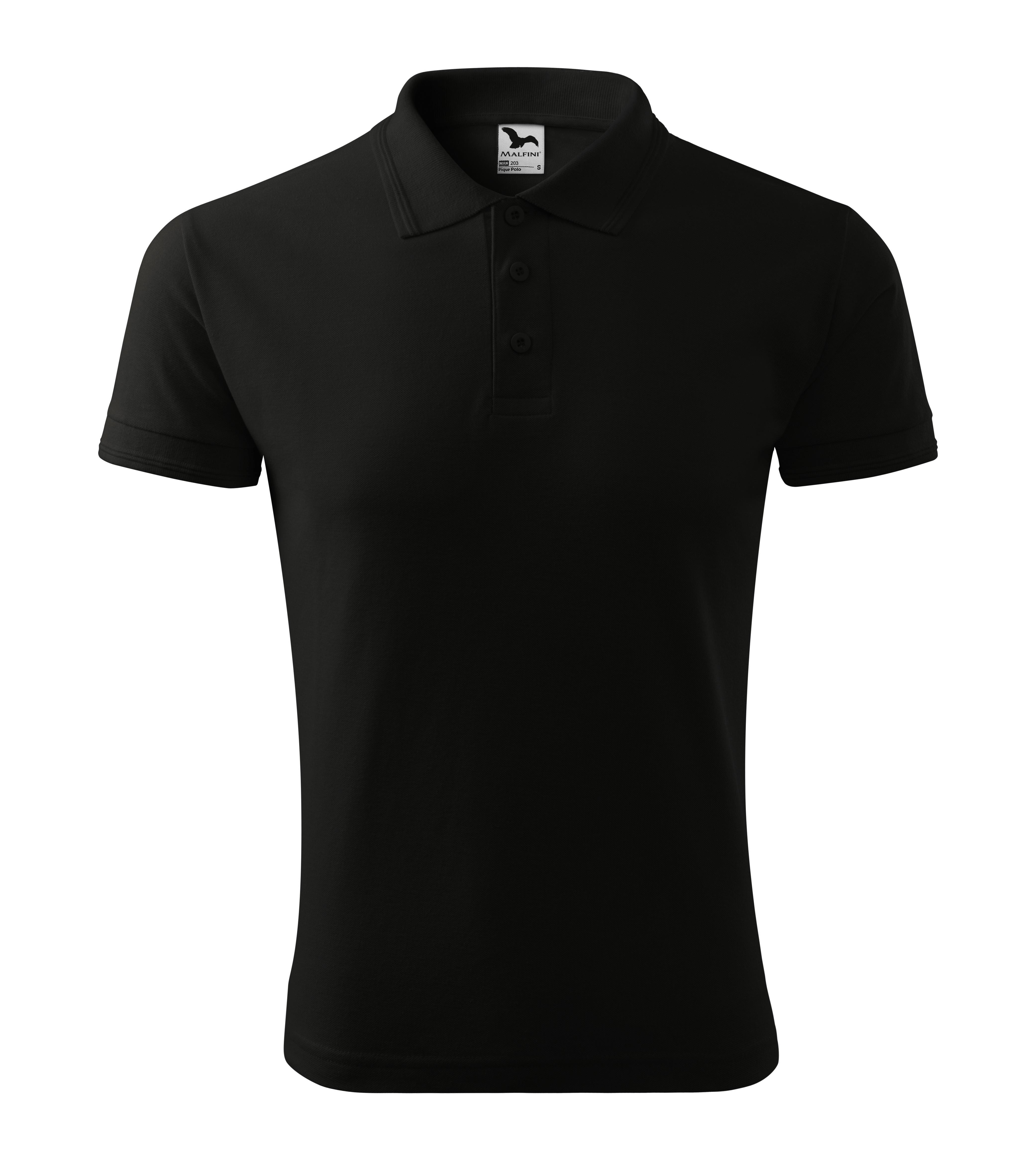Polokošile pánská Pique Polo Barva: černá, Velikost: L