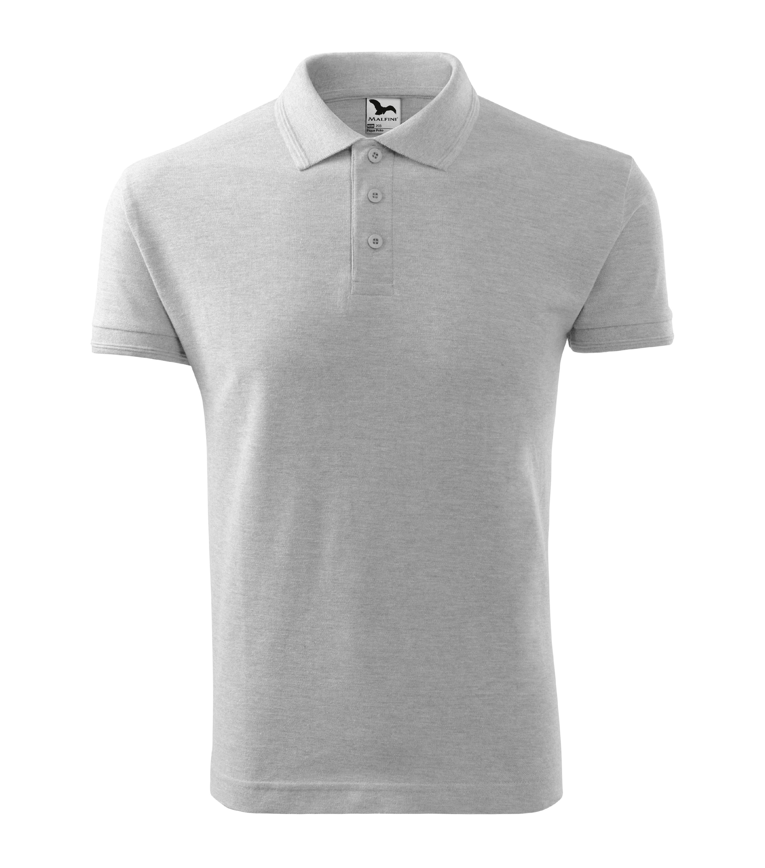 Polokošile pánská Pique Polo Barva: světle šedý melír, Velikost: L