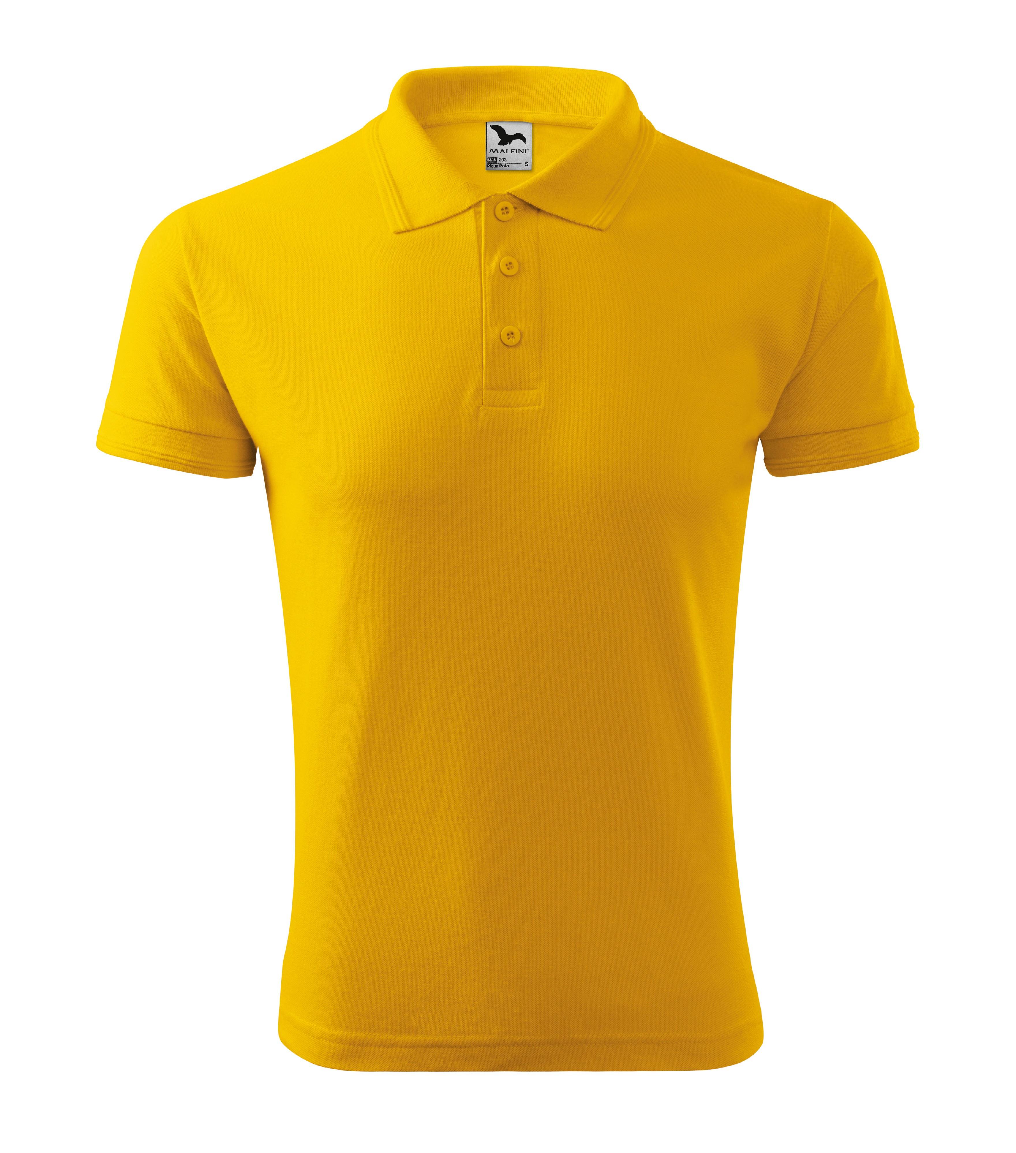 Polokošile pánská Pique Polo Barva: žlutá, Velikost: L