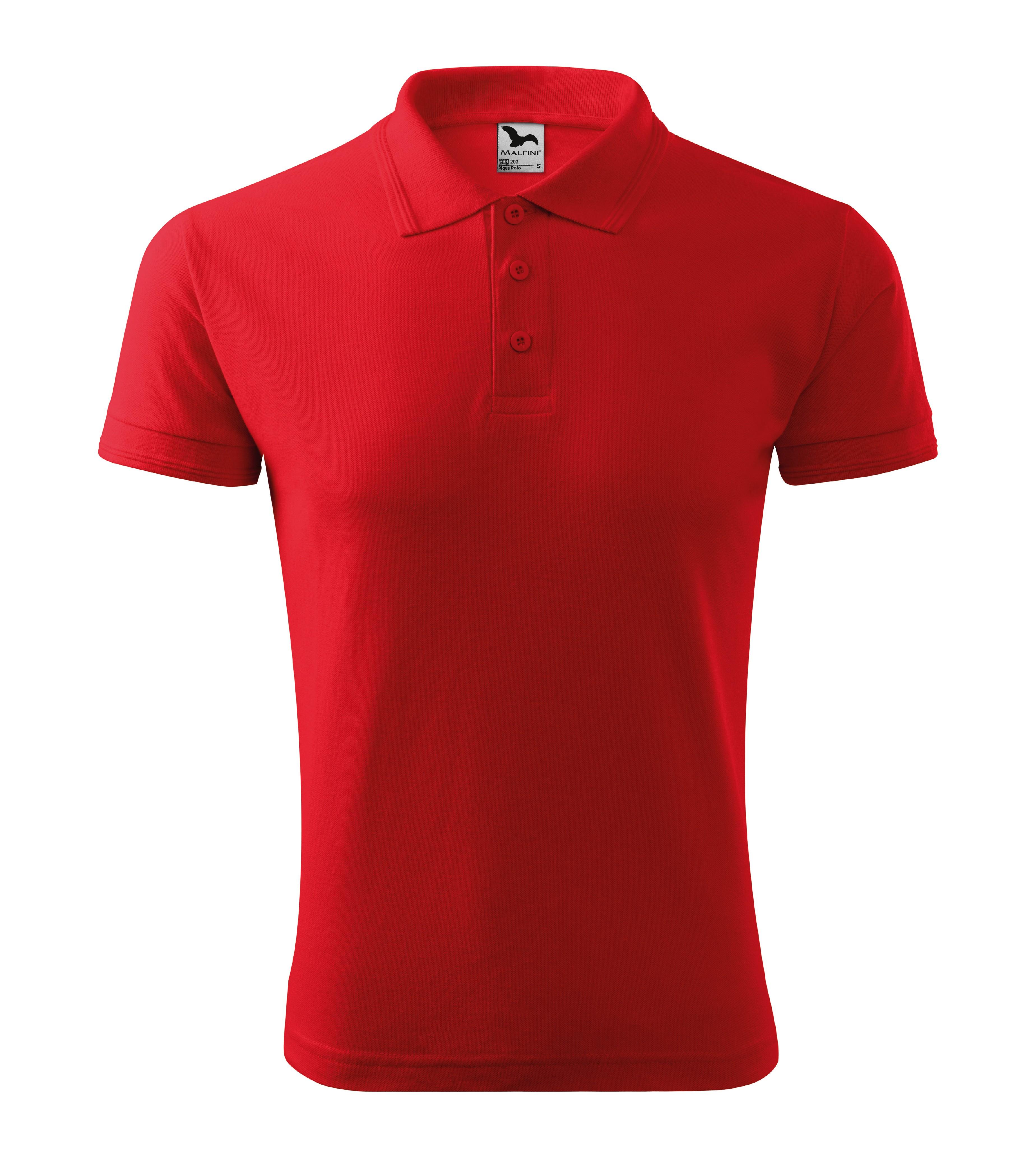 Polokošile pánská Pique Polo Barva: červená, Velikost: L