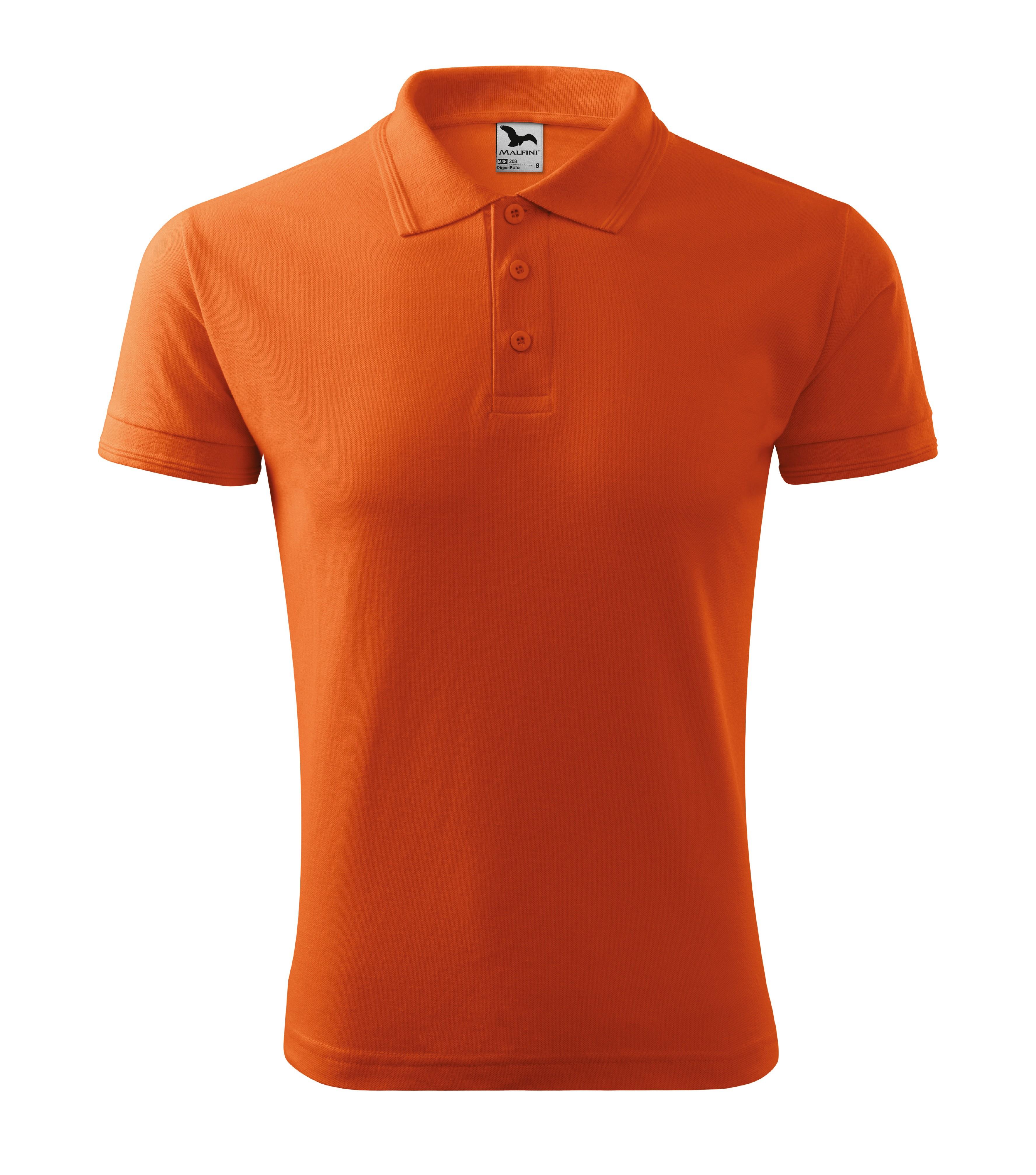 Polokošile pánská Pique Polo Barva: oranžová, Velikost: L
