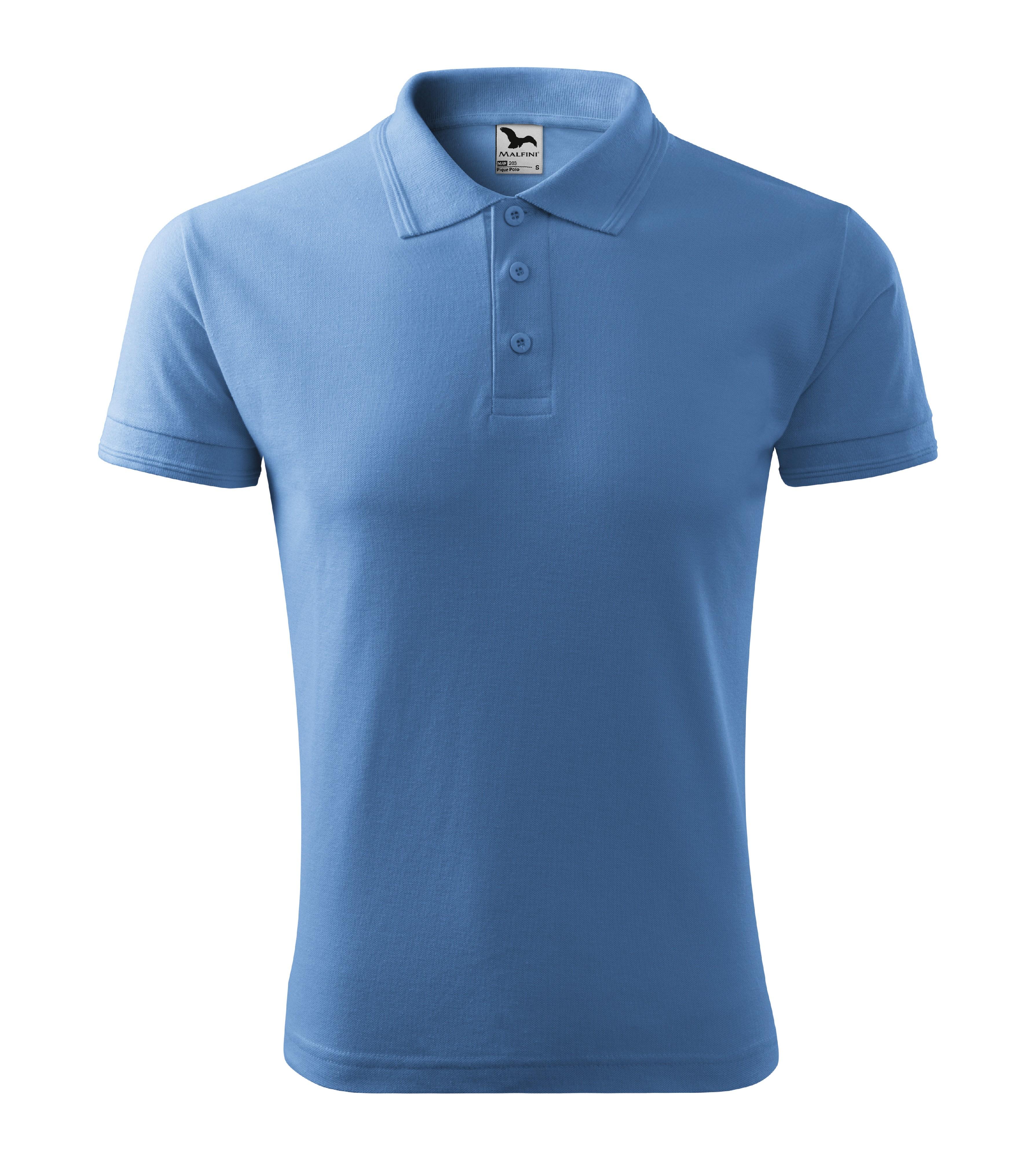 Polokošile pánská Pique Polo Barva: nebesky modrá, Velikost: L