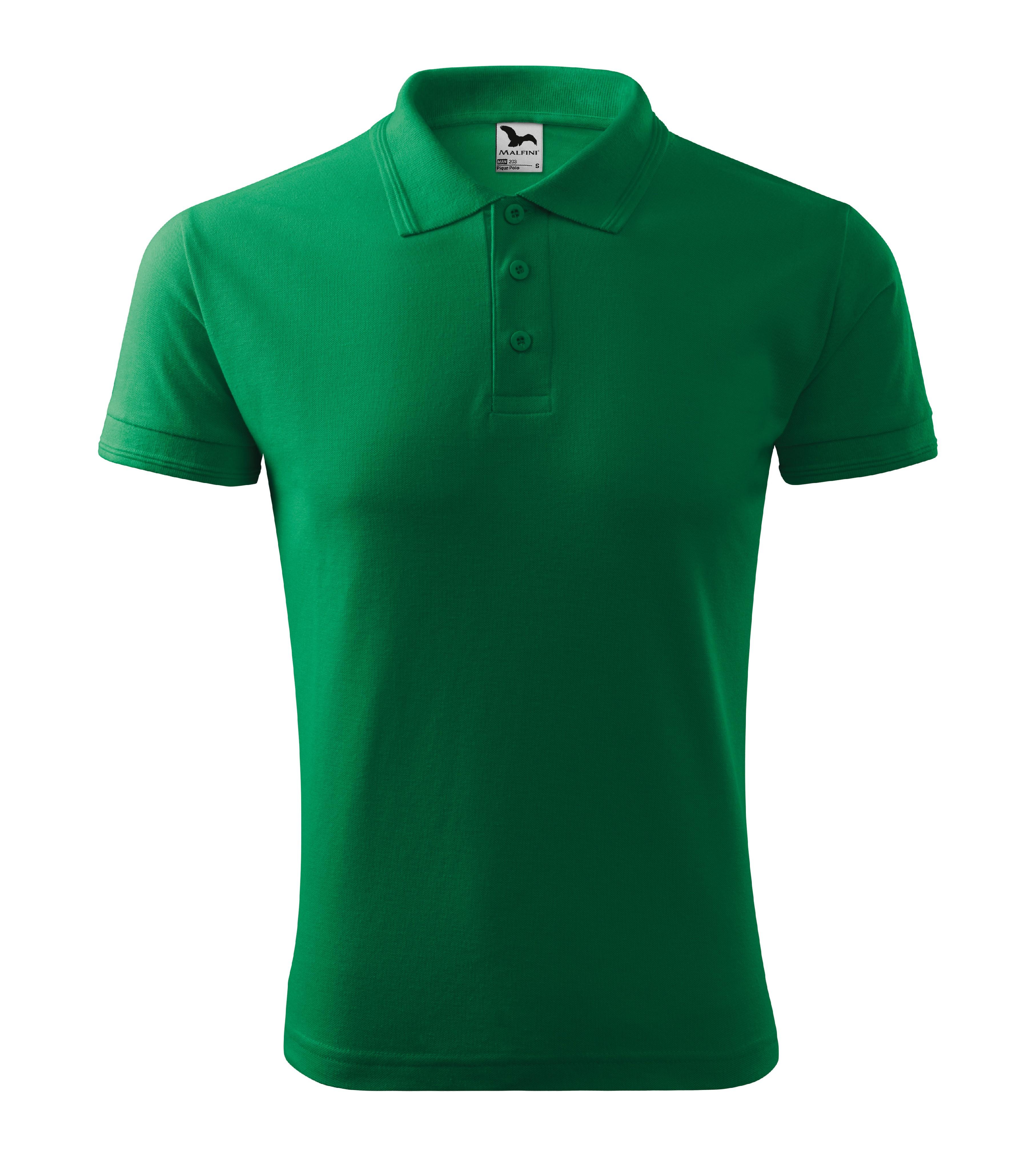 Polokošile pánská Pique Polo Barva: středně zelená, Velikost: L