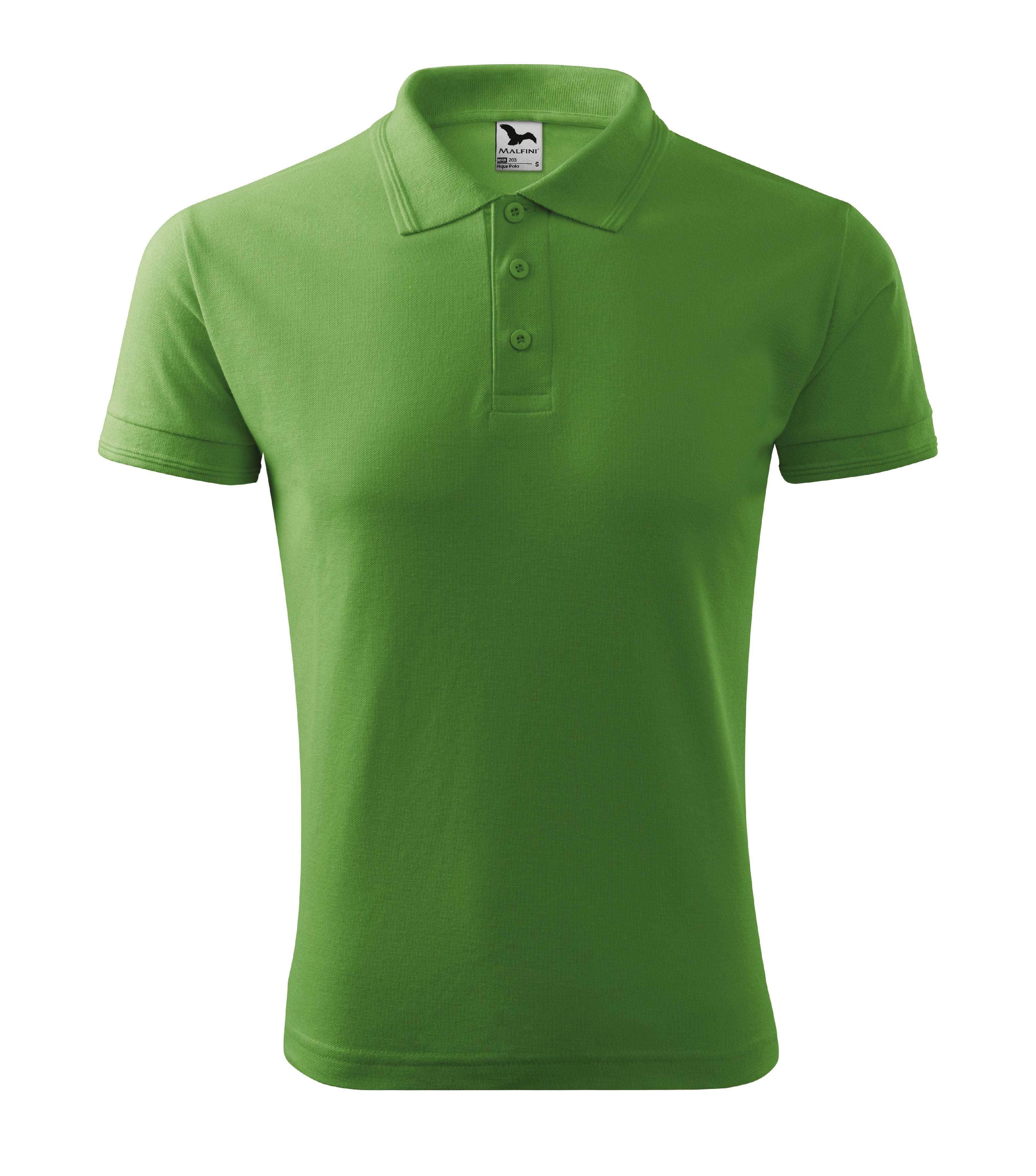 Polokošile pánská Pique Polo Barva: trávově zelená, Velikost: L