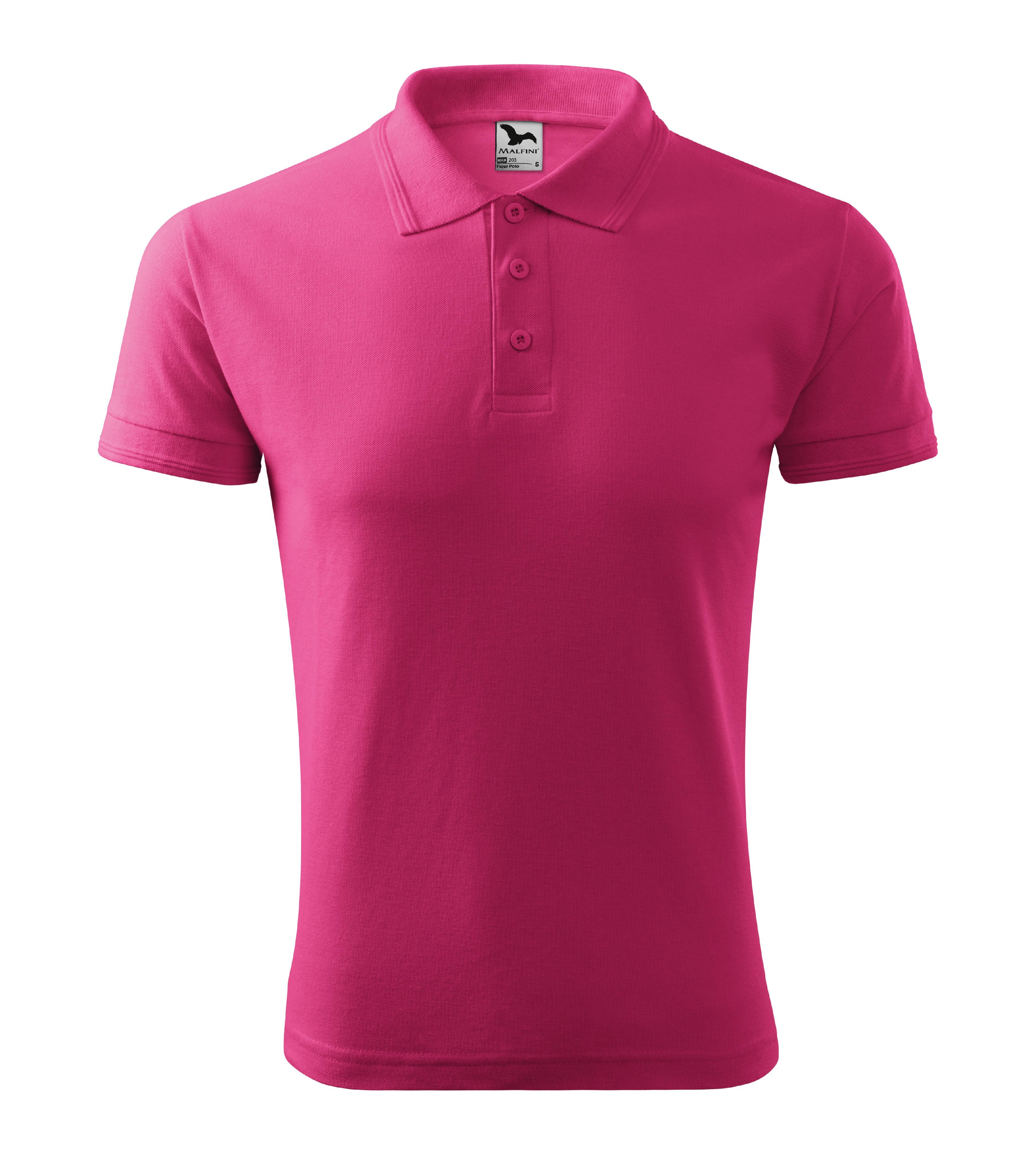 Polokošile pánská Pique Polo Barva: purpurová, Velikost: L