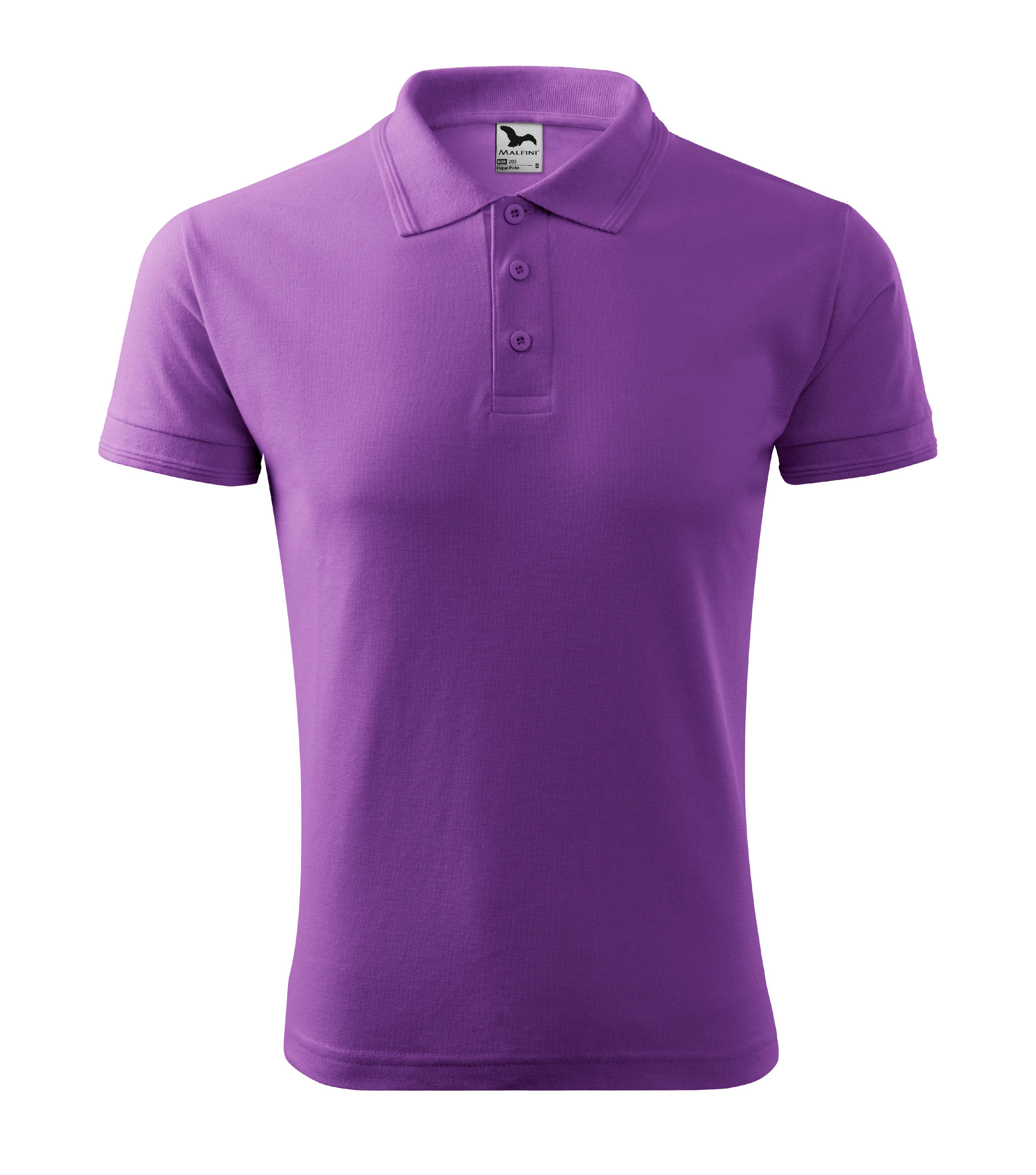 Polokošile pánská Pique Polo Barva: Fialová, Velikost: L