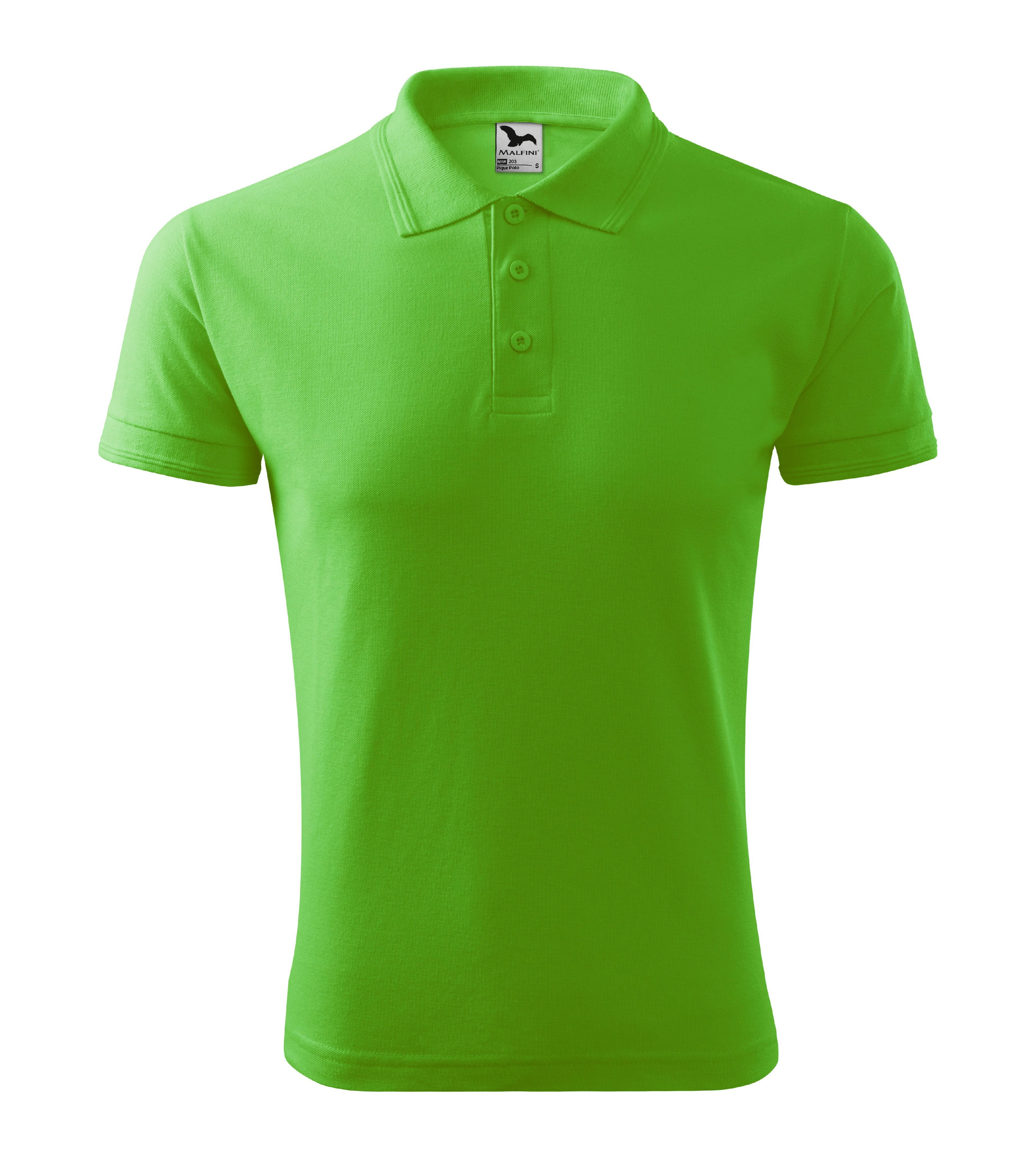 Polokošile pánská Pique Polo Barva: apple green, Velikost: L