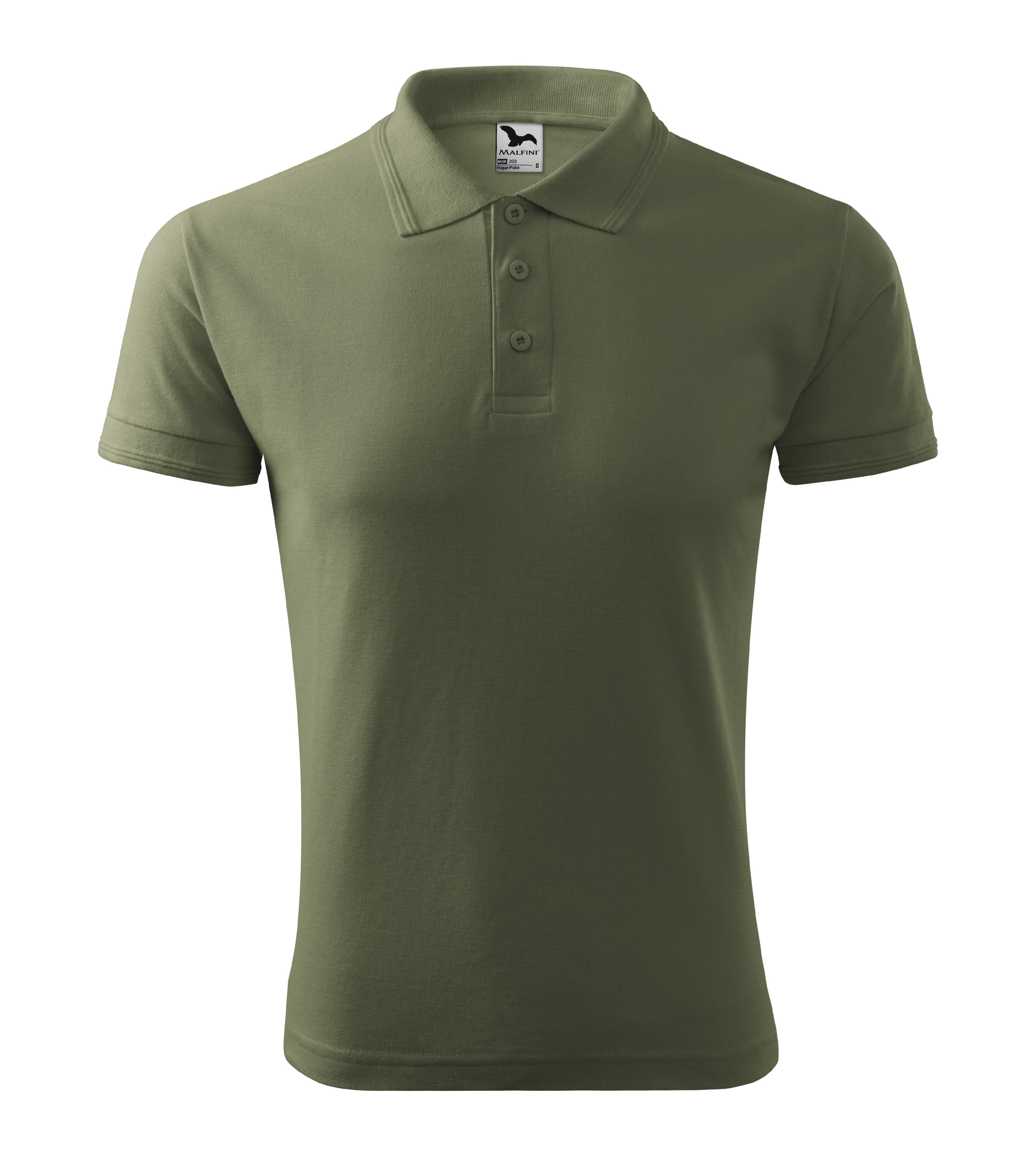 Polokošile pánská Pique Polo Barva: khaki, Velikost: L
