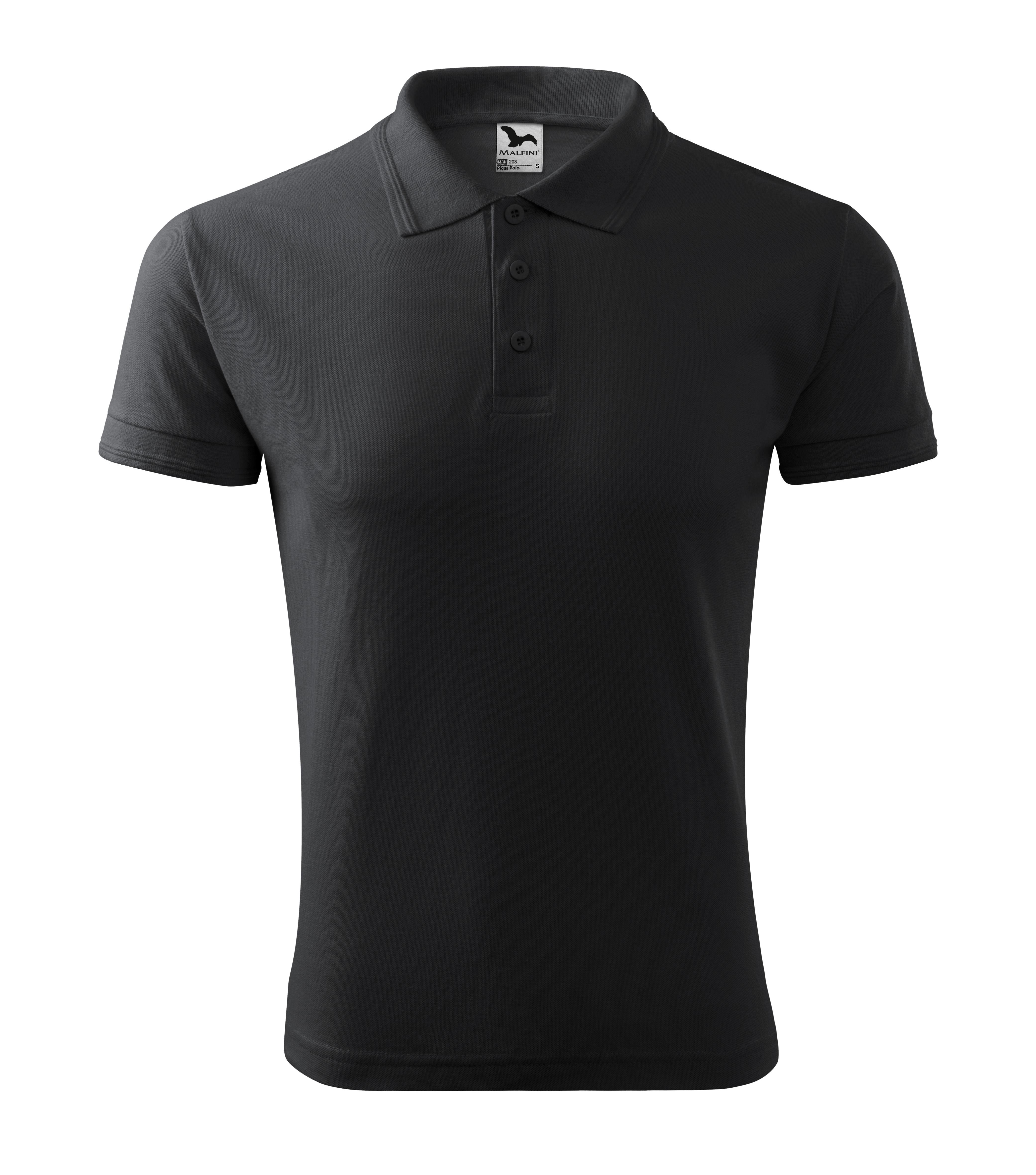 Polokošile pánská Pique Polo Barva: ebony gray, Velikost: L