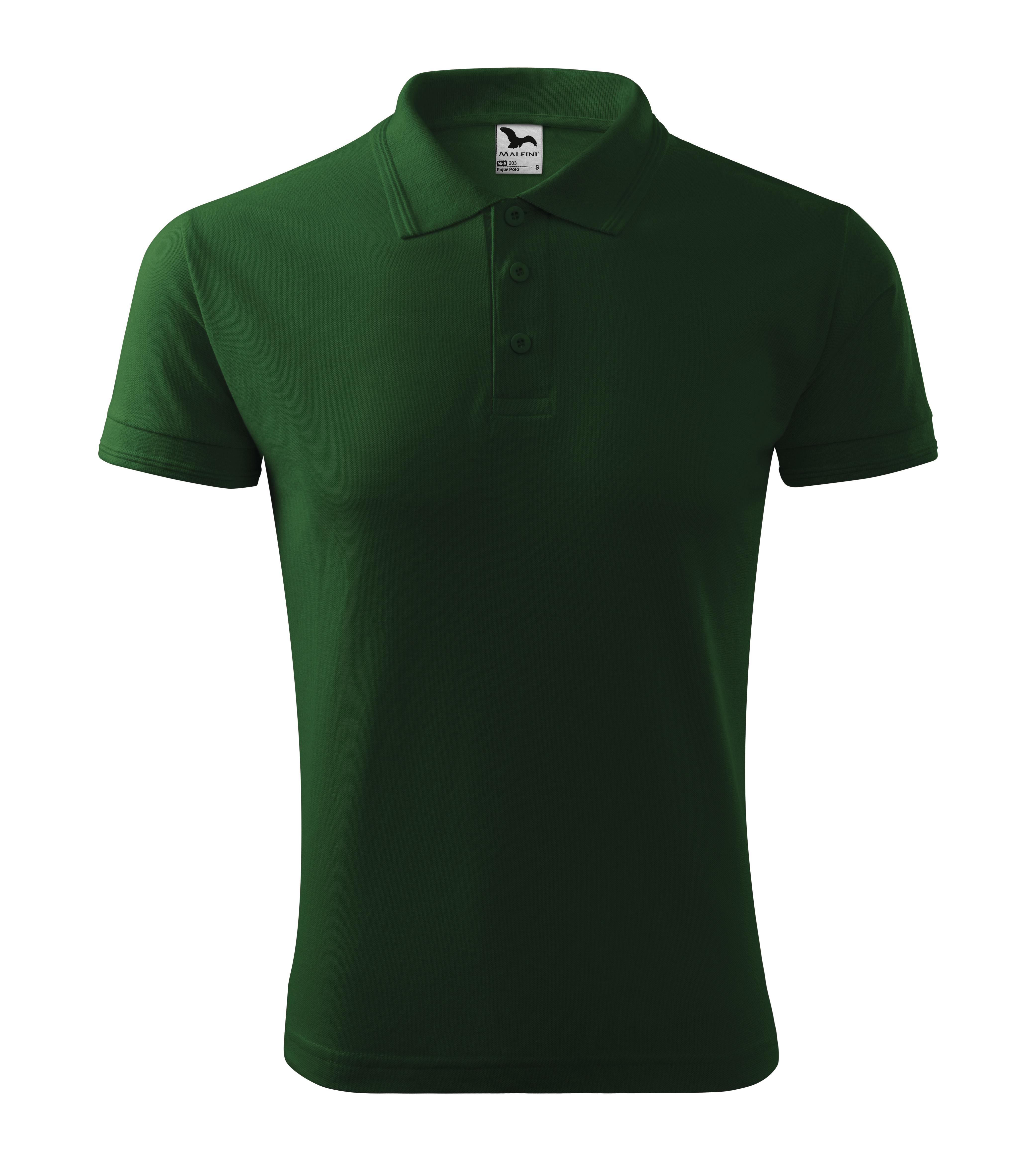 Polokošile pánská Pique Polo Barva: lahvově zelená, Velikost: L