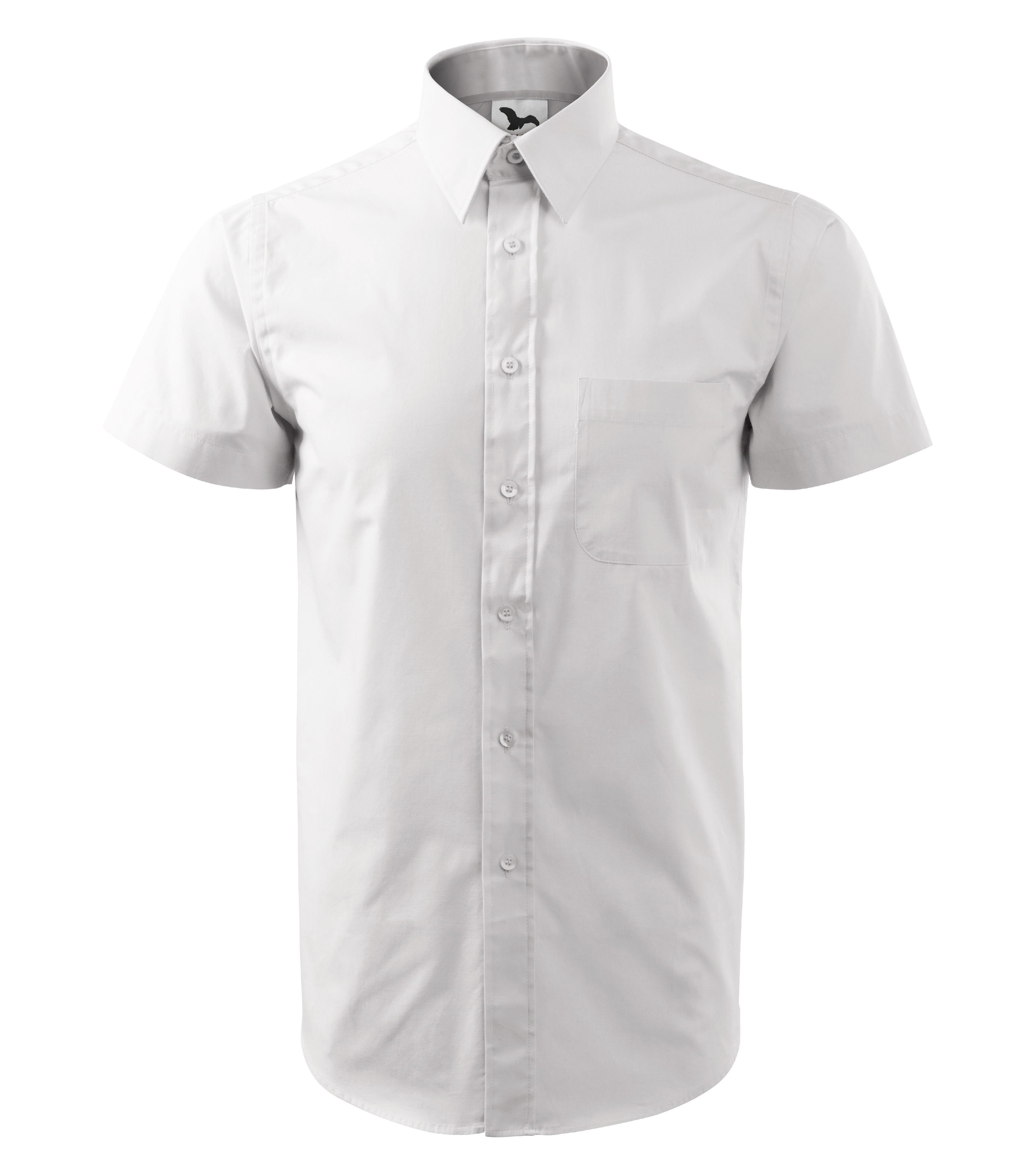 Košile pánská SHIRT SHORT SLEEVE CHIC Barva  červená 950e05e893