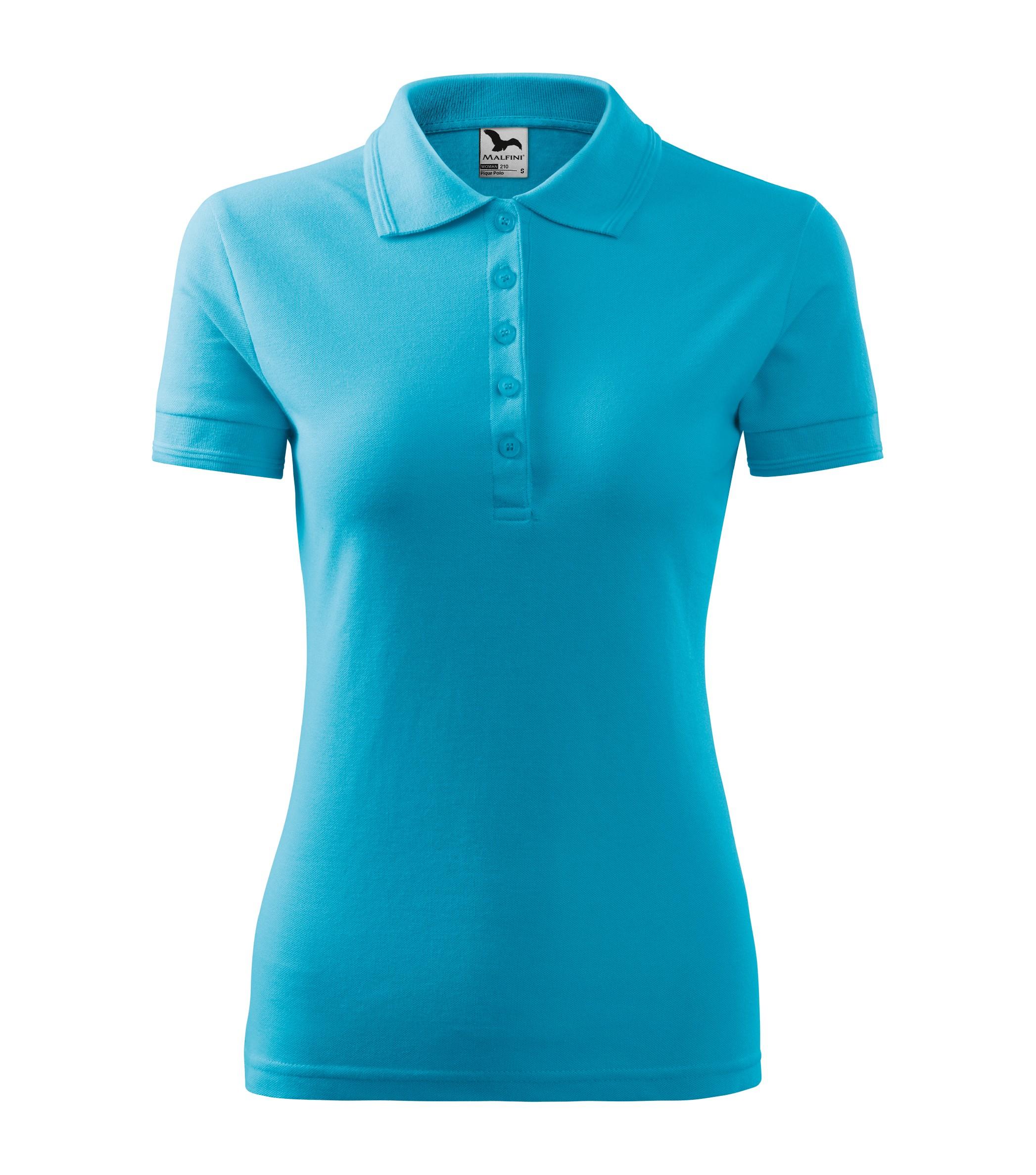 Polokošile dámská Pique Polo Barva: tyrkysová, Velikost: L
