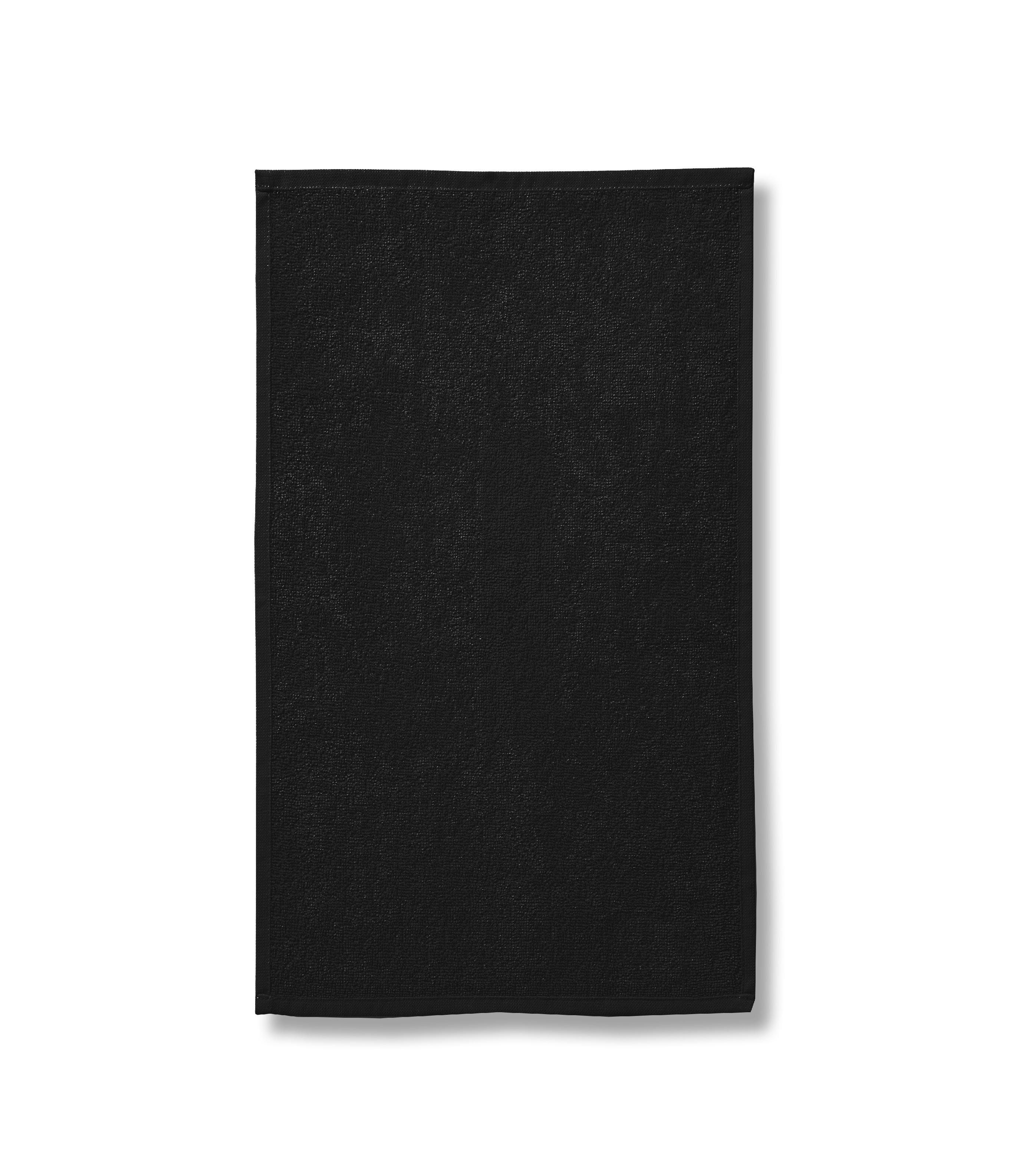 Ručník unisex Terry Towel Barva: černá, Velikost: 50 x 100 cm