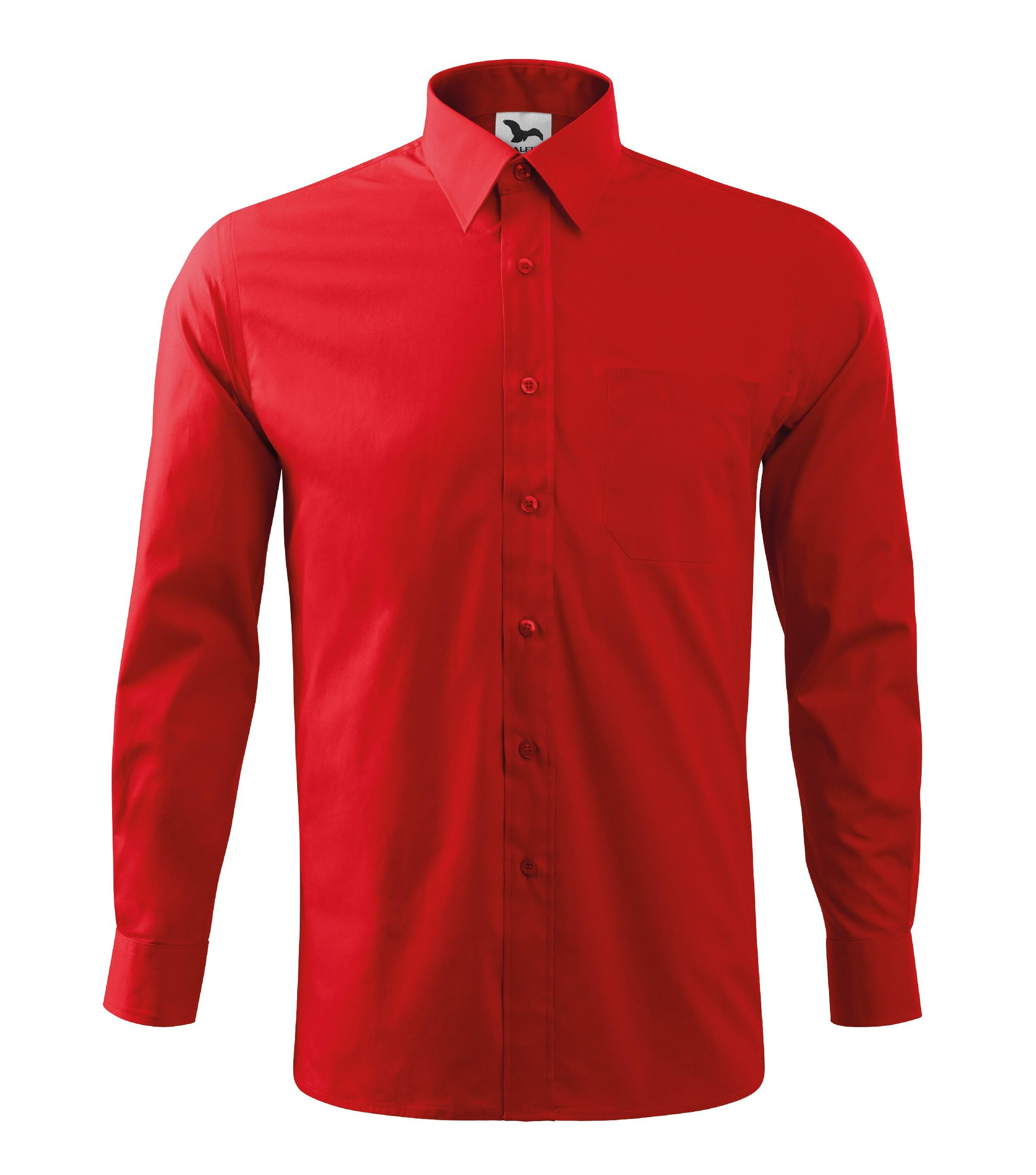 Košile pánská SHIRT LONG SLEEVE STYLE LS Barva  červená 02d7956142