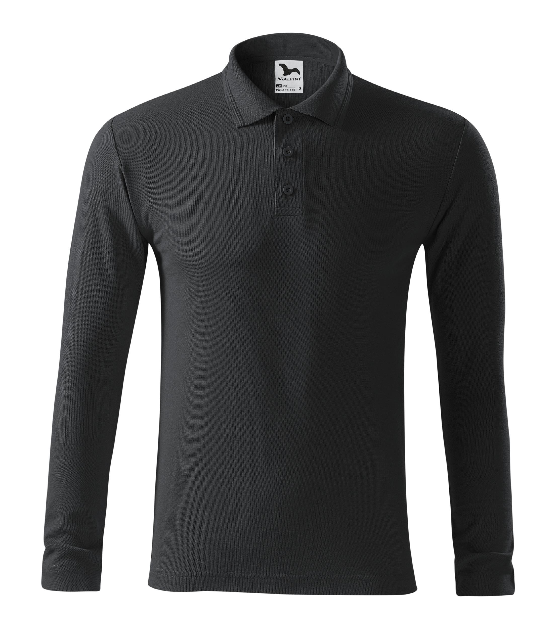 Polokošile pánská Pique Polo LS Barva: ebony gray, Velikost: L