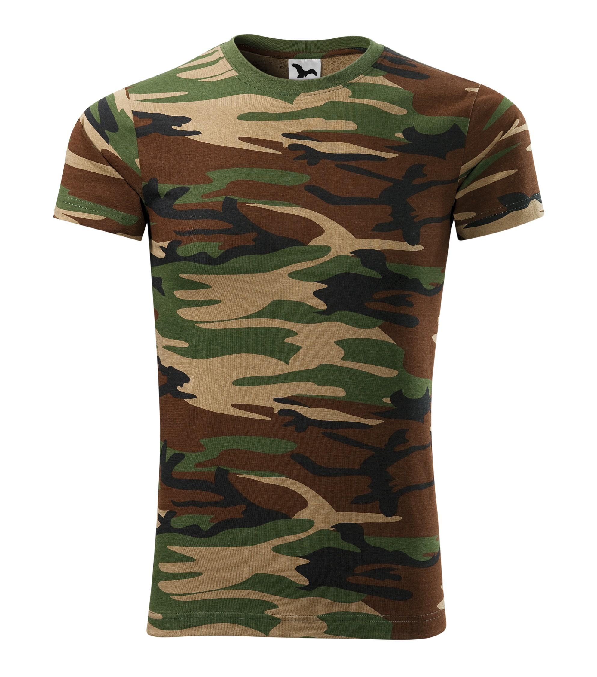 810215569408 Tričko unisex Camouflage Barva  camouflage brown