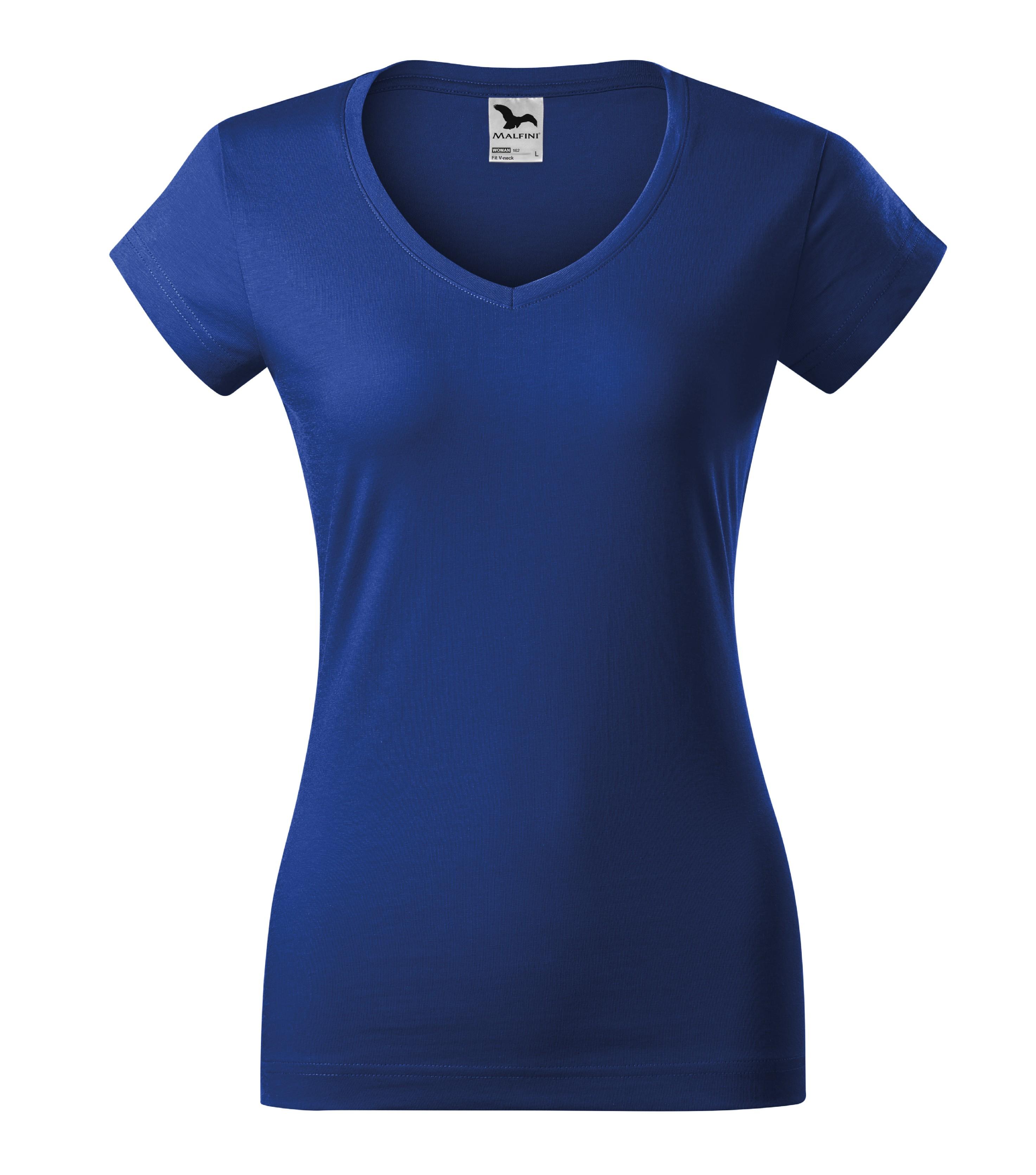 Tričko dámské Fit V-neck Barva: královská modrá, Velikost: S