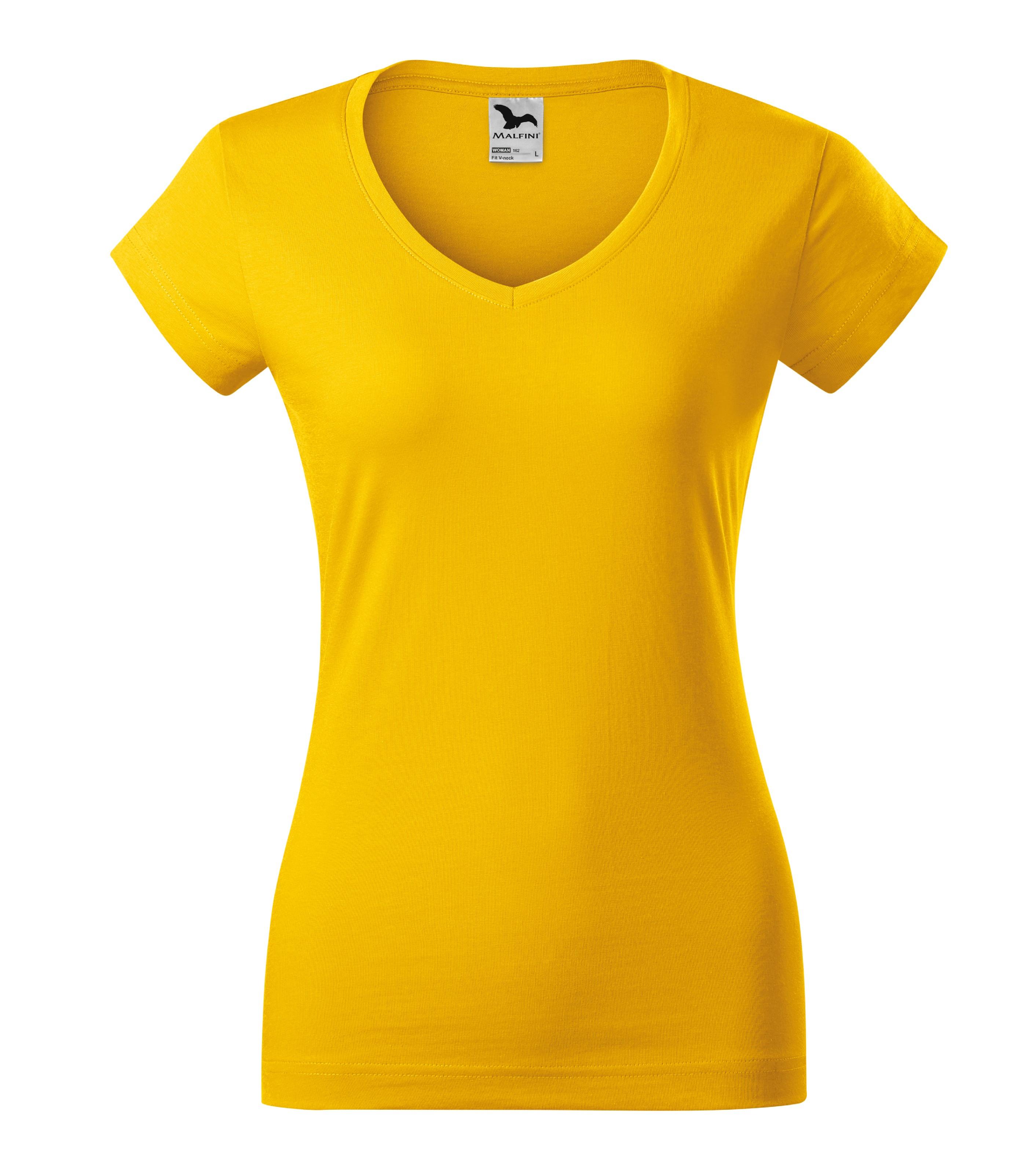 Tričko dámské Fit V-neck Barva: žlutá, Velikost: XL