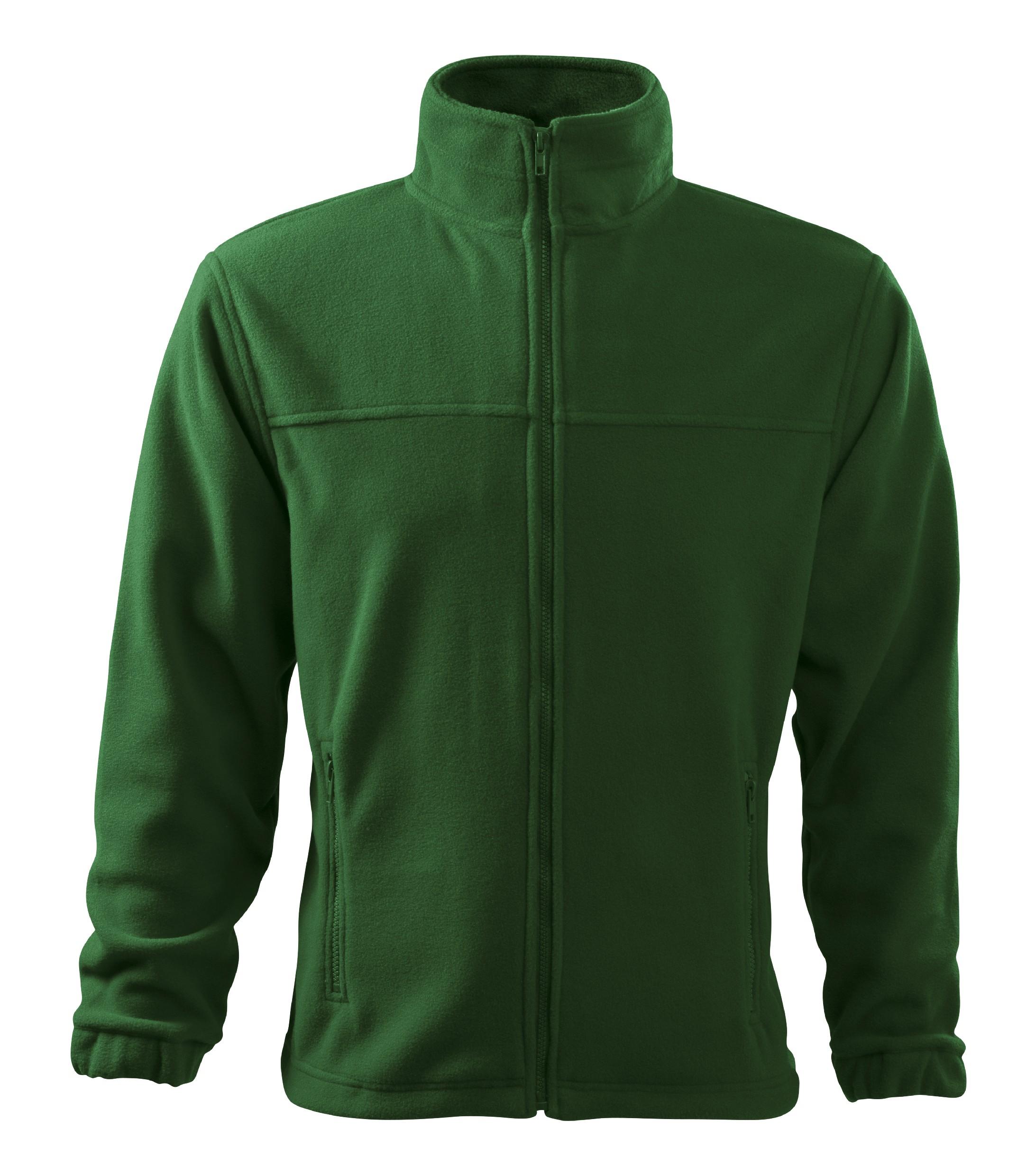 Fleece pánská Bunda Barva: lahvově zelená, Velikost: L