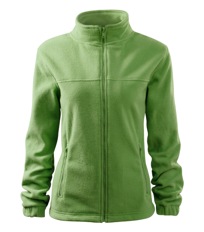 Fleece dámská Bunda Barva: trávově zelená, Velikost: L