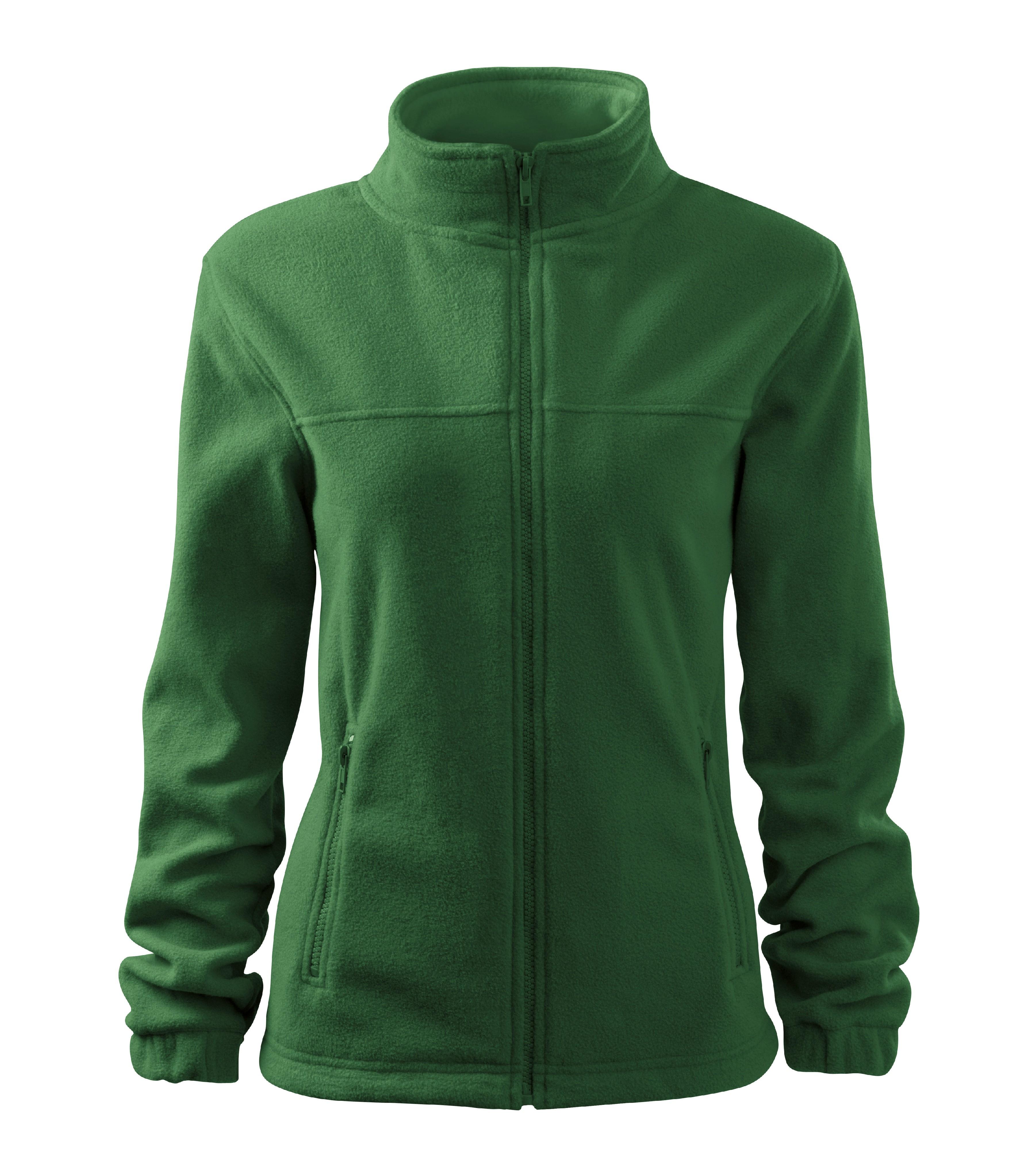Fleece dámská Bunda Barva: lahvově zelená, Velikost: L