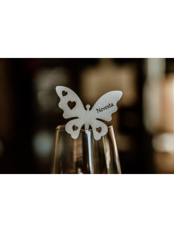 Svadobná menovka motýlik 2
