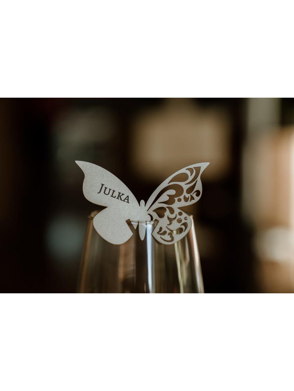Svadobná menovka motýlik 3