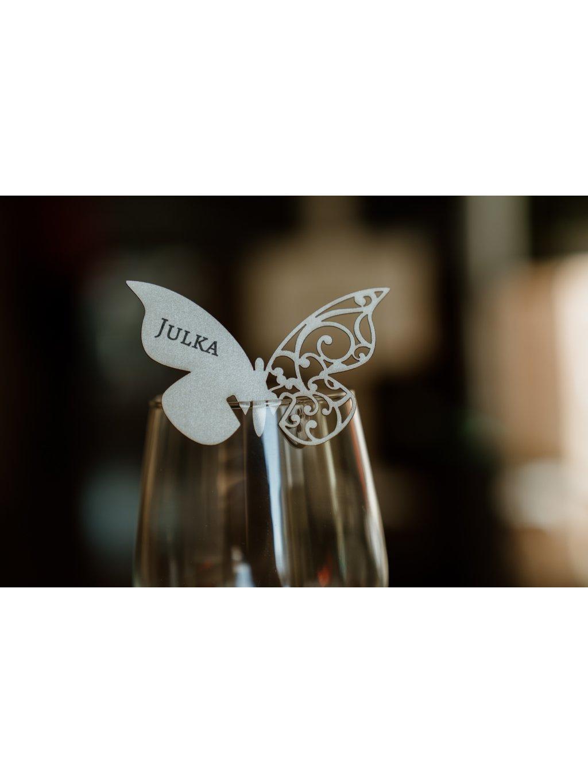 Svadobná menovka motýlik 5