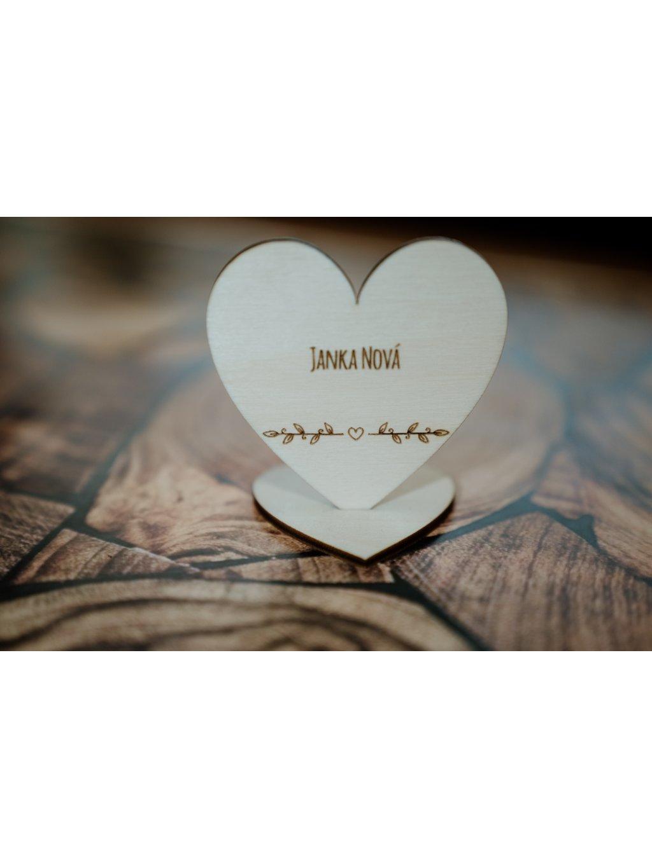 Drevená svadobná menovka 12