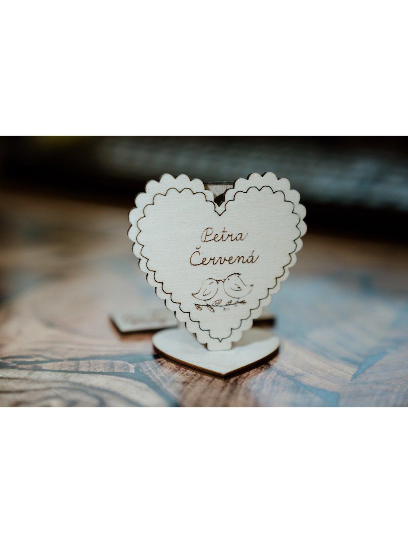 Drevená svadobná menovka 16