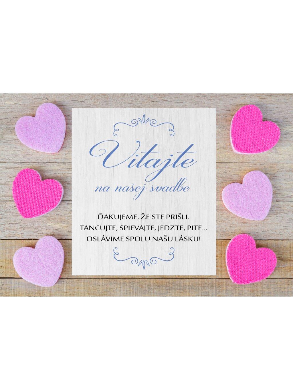 Uvítacia svadobná tabuľa 4