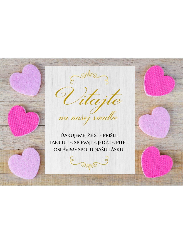 Uvítacia svadobná tabuľa 5