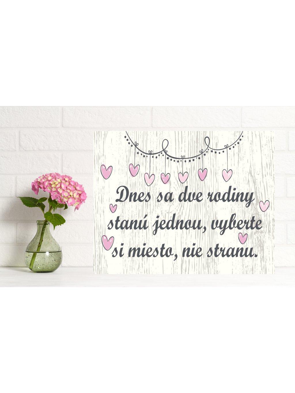 Uvítacia svadobná tabuľa 7