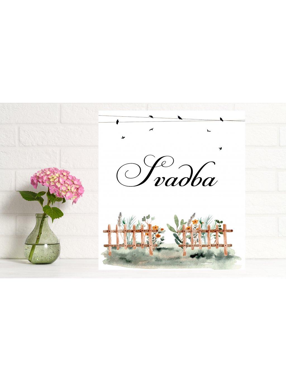 Uvítacia svadobná tabuľa 14