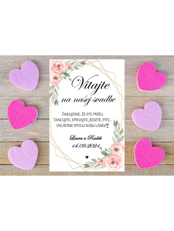 Uvítacia svadobná tabuľa 17