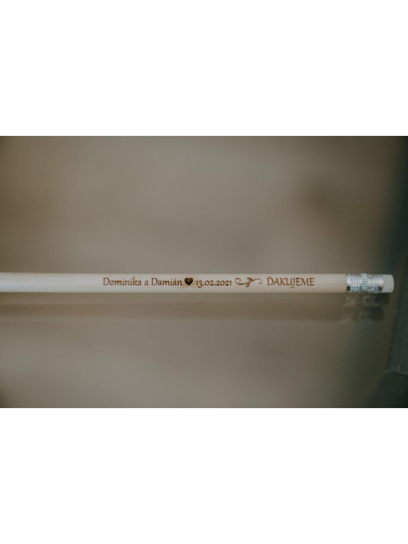 Gravirovaná ceruzka na svadbu 4 s citátom
