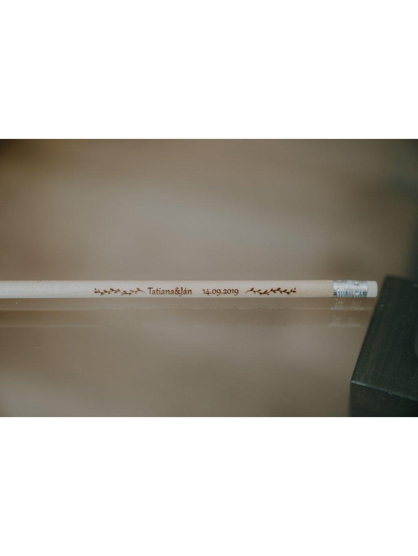 Gravirovaná ceruzka na svadbu 8