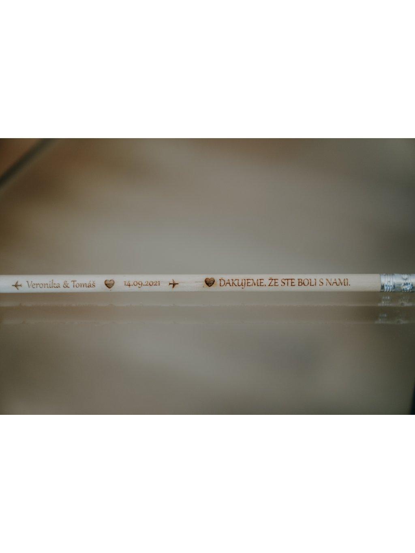 Gravirovaná ceruzka na svadbu 12