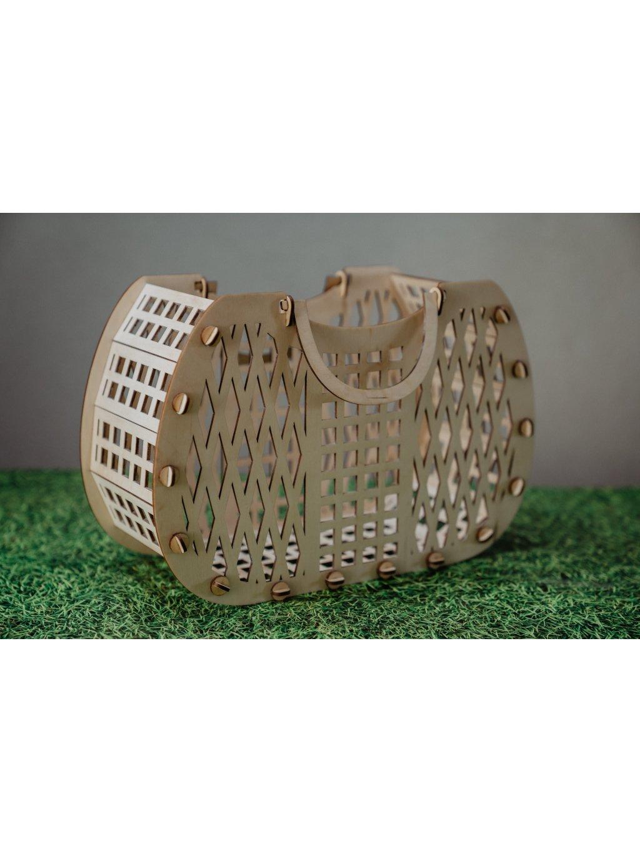 Veľkonočná drevená taška/ košík