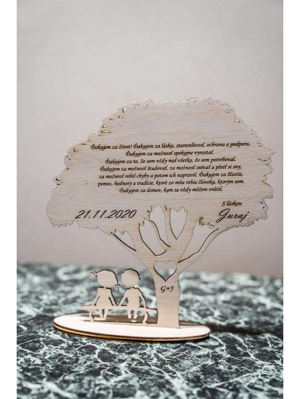 Poďakovanie rodičom strom